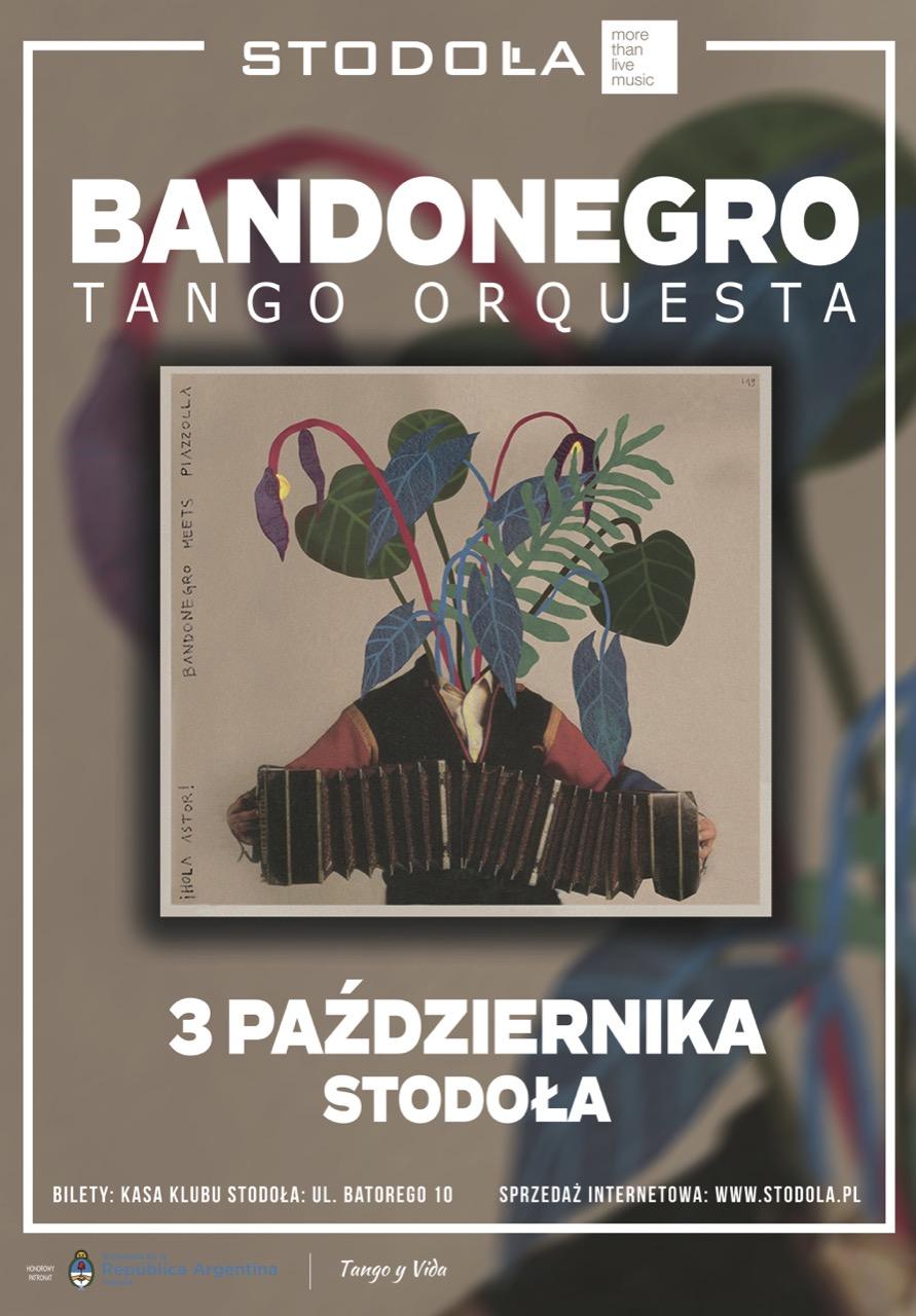 Plakat koncertu promującego płytę Hola Astor 3.10.2019 Klub Stodoła